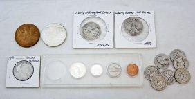 Mixed Lot Of U.s. Coins & Memphis, Tn. Medals