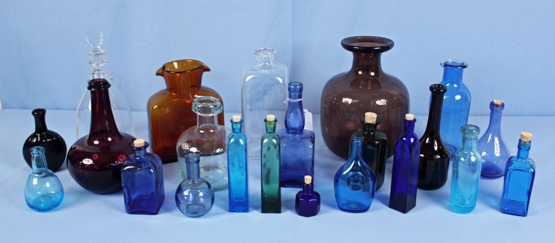 Large group of 20th Century Bottles