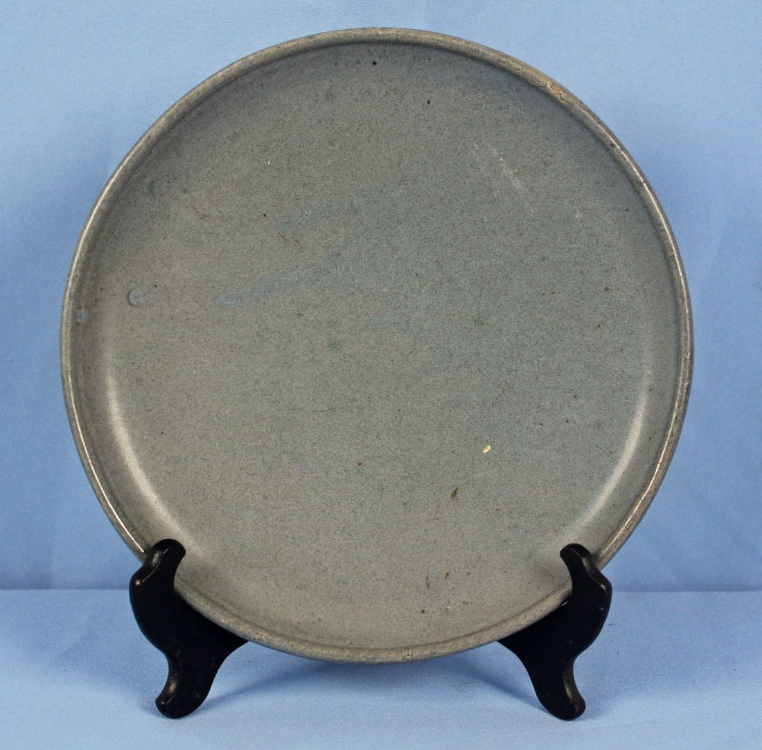 40 Pcs. Blue Stoneware Dish Set Marked LP - 3