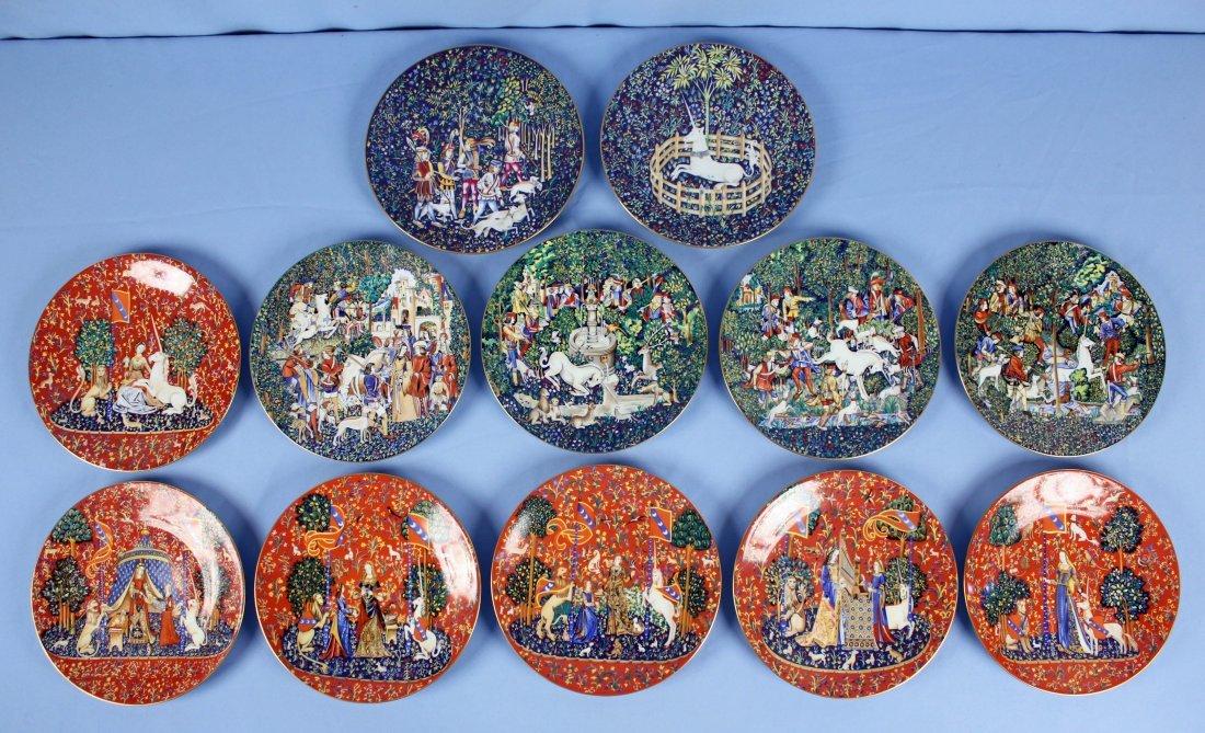 12 Haviland Limoges Unicorn Plates 1971-1982