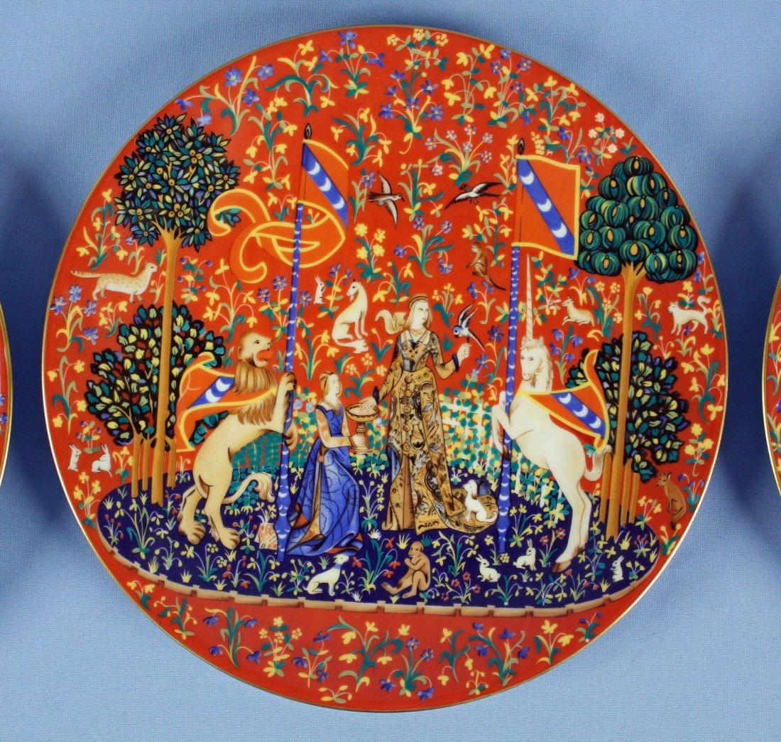 12 Haviland Limoges Unicorn Plates 1971-1982 - 2