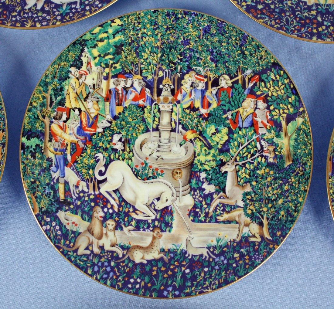 12 Haviland Limoges Unicorn Plates 1971-1982 - 3