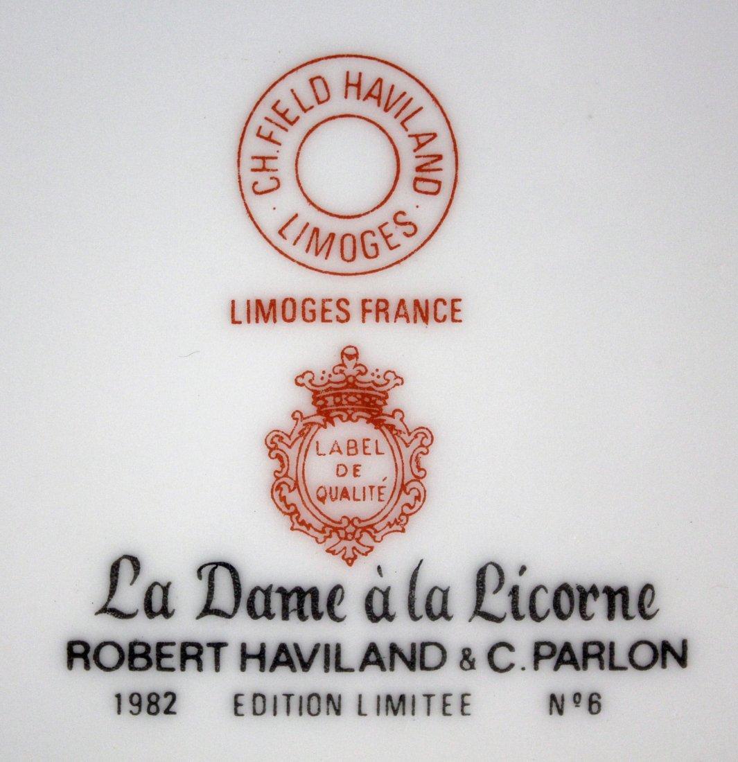 12 Haviland Limoges Unicorn Plates 1971-1982 - 4