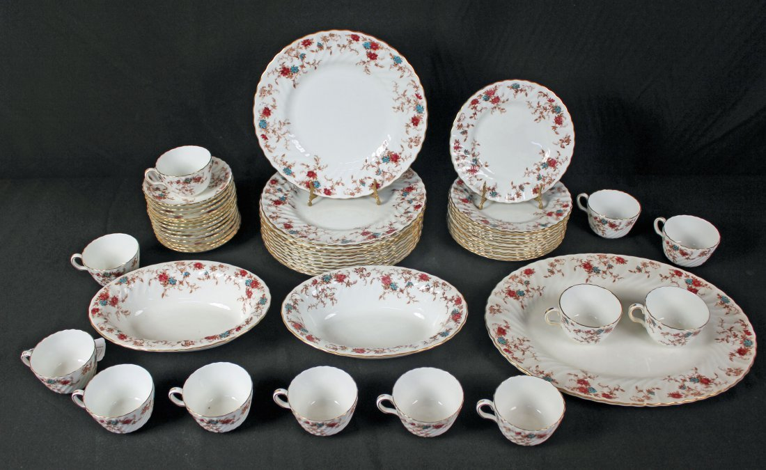 12 Place Setting of  Minton Ancestral Pattern Set