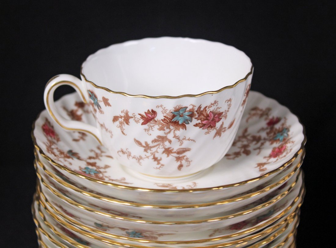 12 Place Setting of  Minton Ancestral Pattern Set - 4
