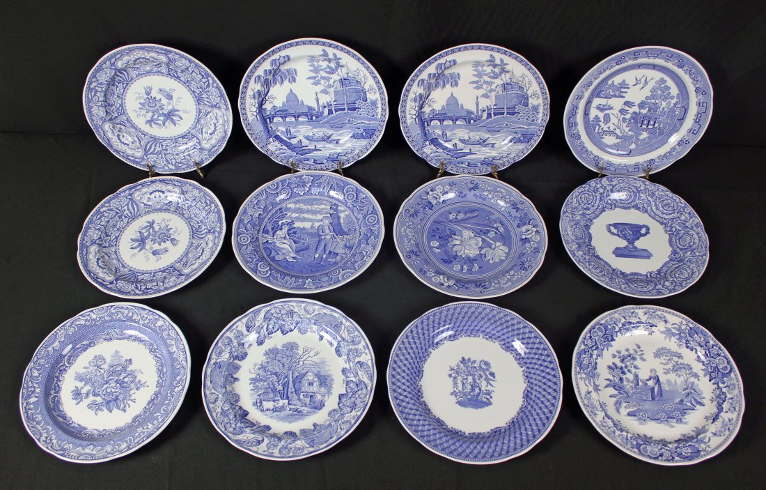 12 Spode Blue Room Collection Dinner Plates