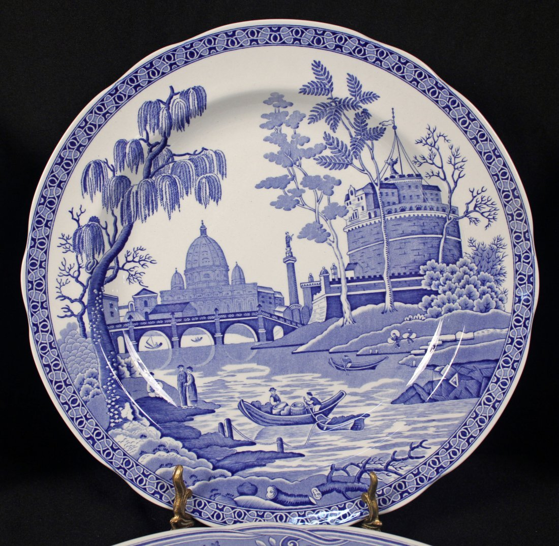12 Spode Blue Room Collection Dinner Plates - 3