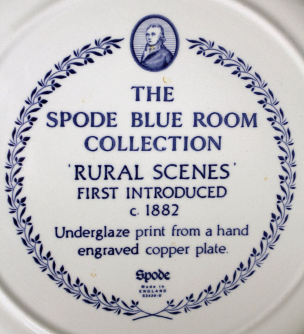 12 Spode Blue Room Collection Dinner Plates - 4