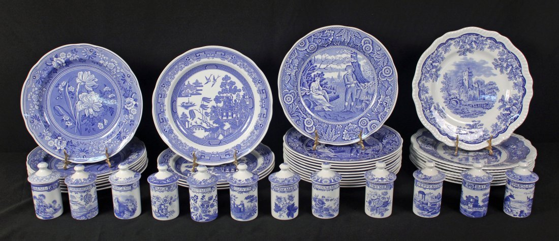 42 Spode Blue Room Collection Plates & Containers