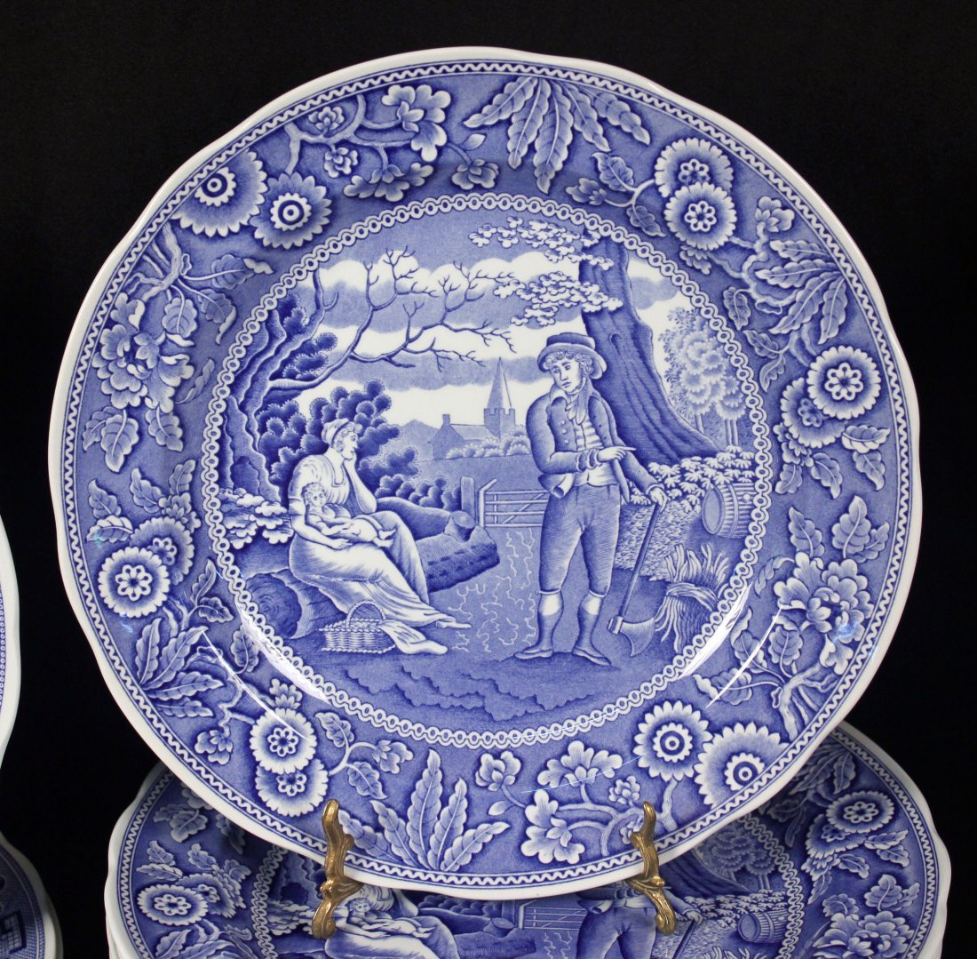 42 Spode Blue Room Collection Plates & Containers - 3