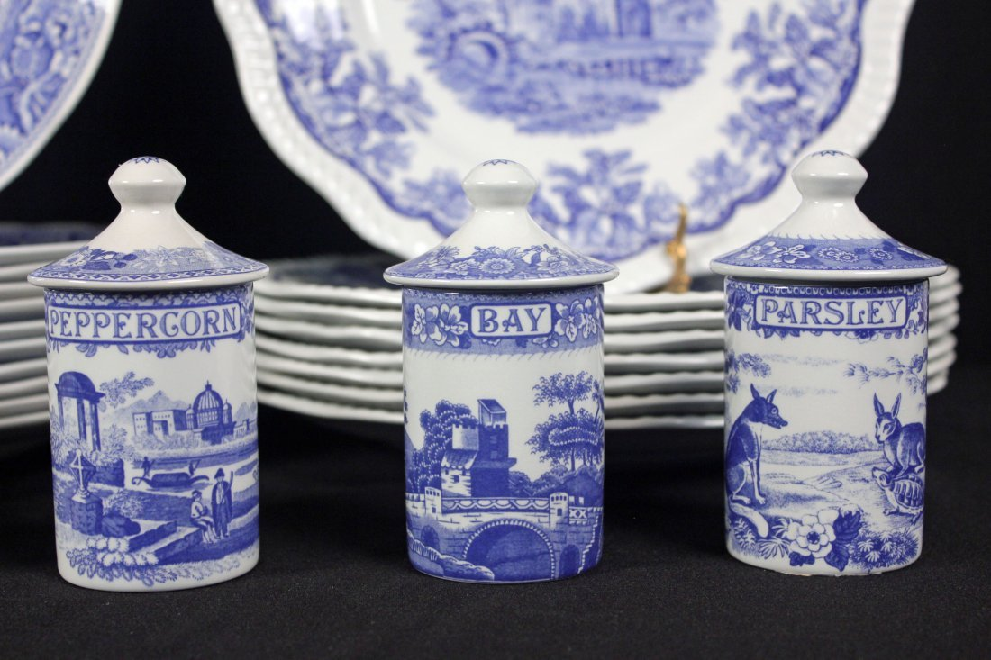 42 Spode Blue Room Collection Plates & Containers - 7