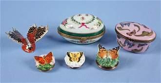 Box w Porcelain Items Limoges  HD London