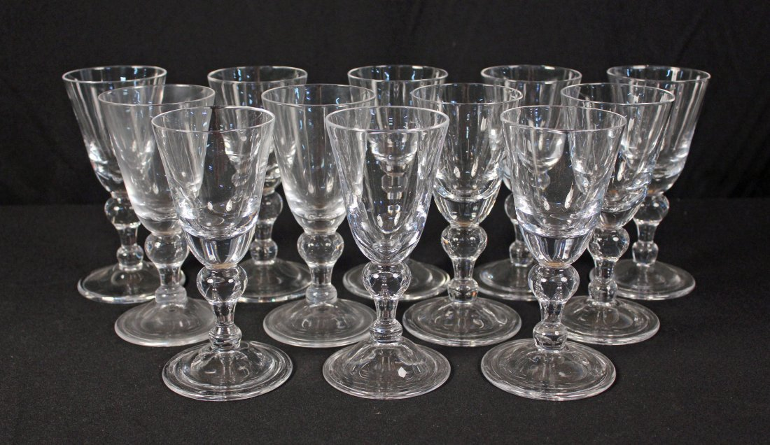 12 Royal Leerdam Williamsburg Baluster Goblets