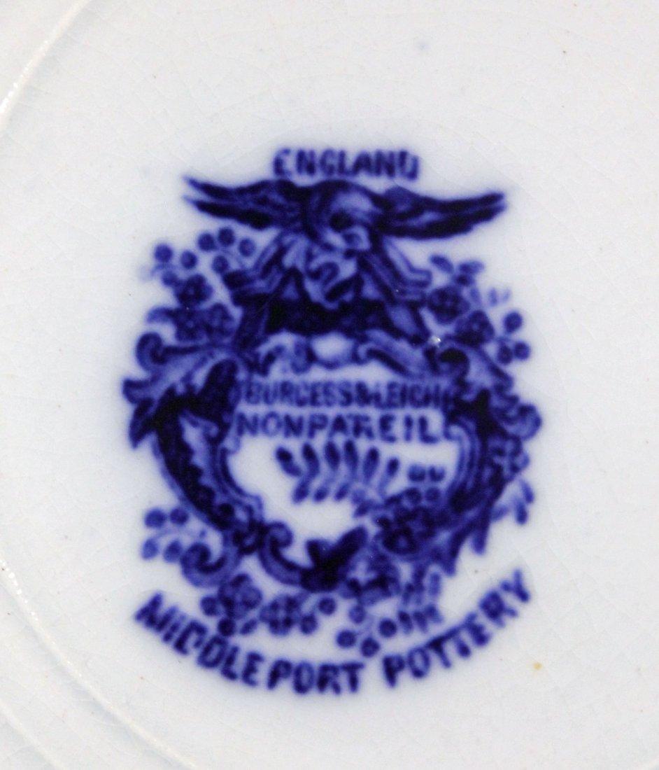 11 Flow Blue Plates & Saucers - 10