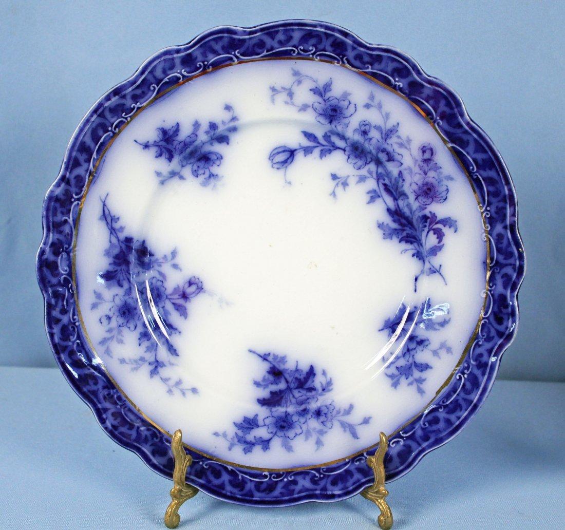 11 Flow Blue Plates & Saucers - 5