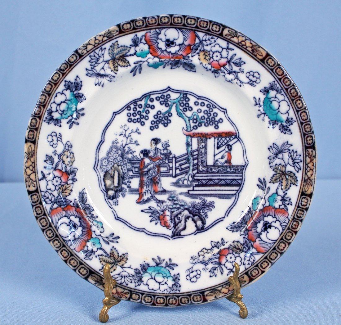 11 Flow Blue Plates & Saucers - 7
