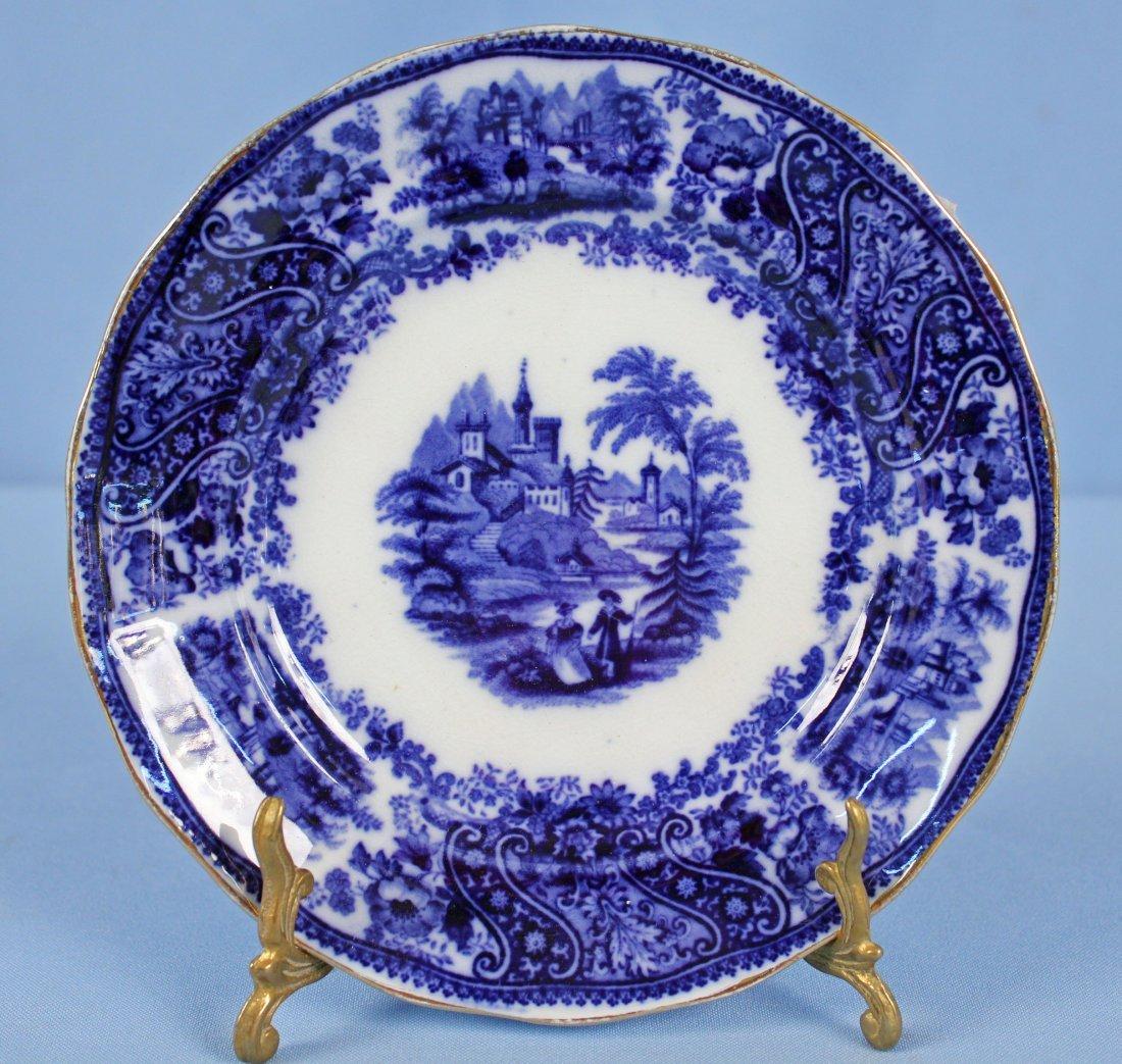 11 Flow Blue Plates & Saucers - 9