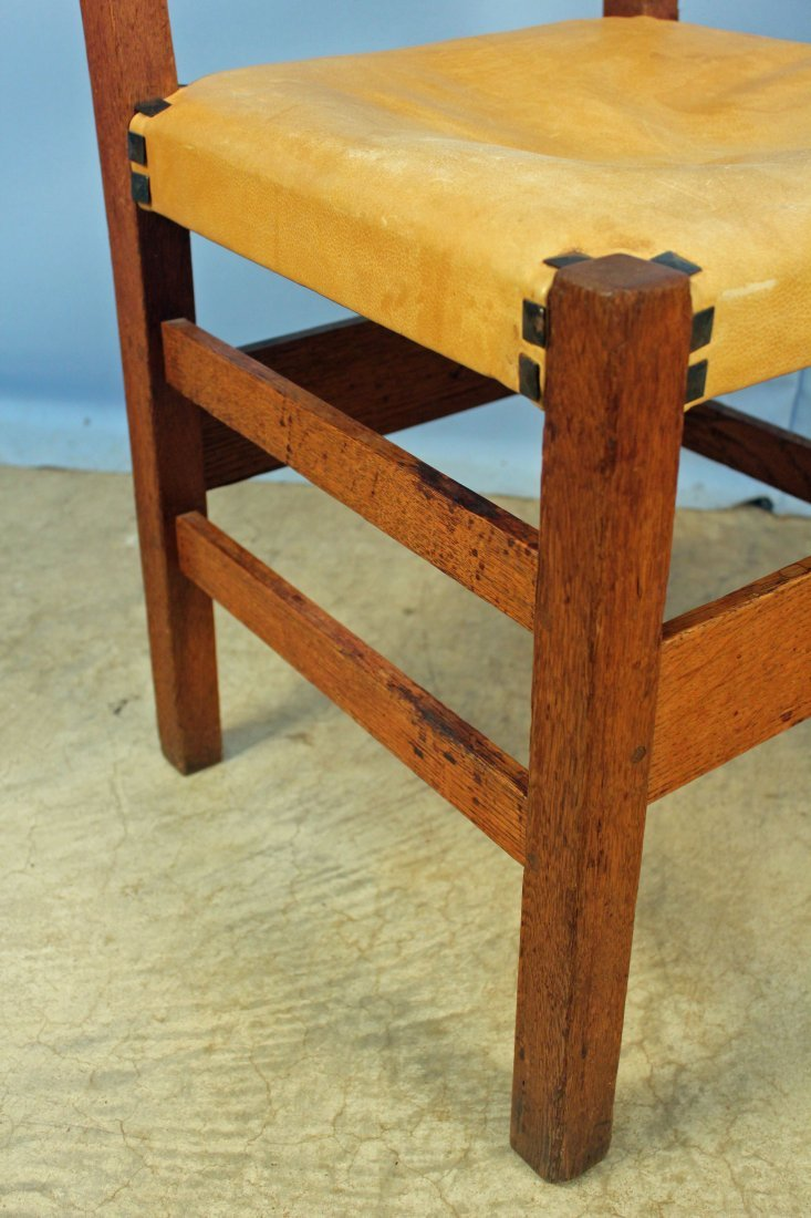 4 Gustav Stickley No. 306 1/2 Ladder Back Chairs - 3