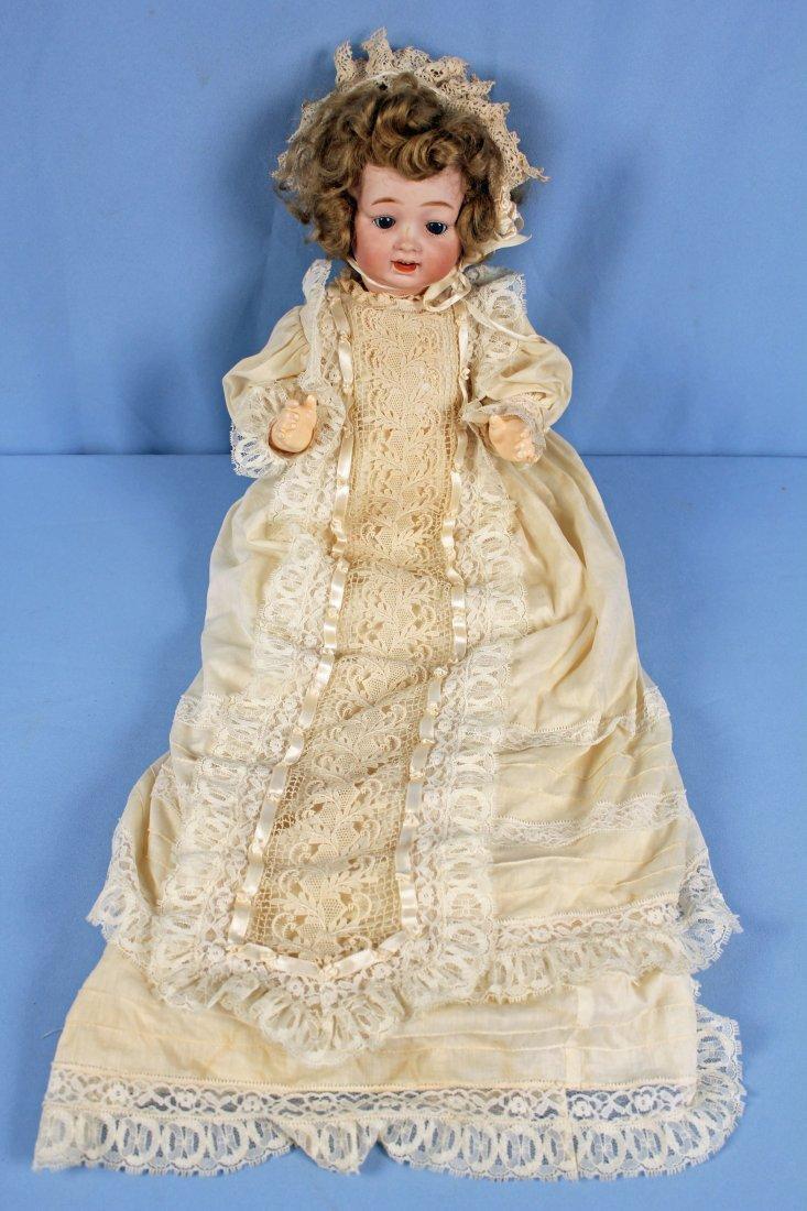 C. 1920 Antique Morimura Bros. Bisque Head Doll - 4