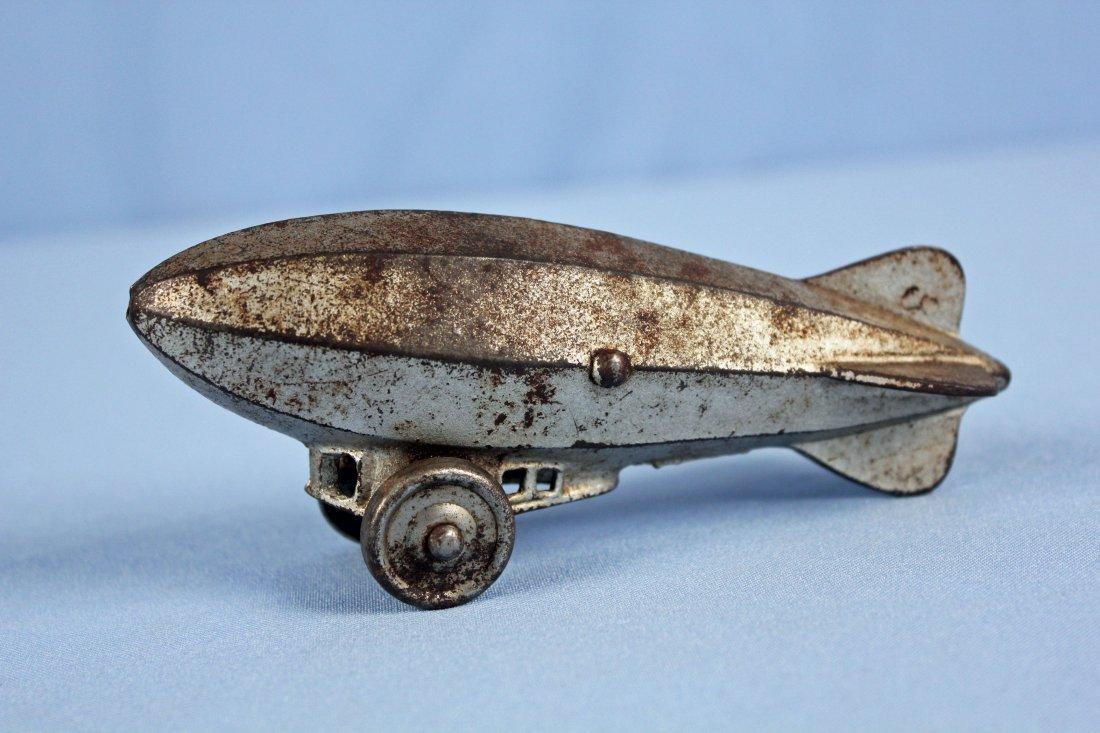 "Cast Iron Graf Zeppelin or Blimp  6"" Pull Toy"
