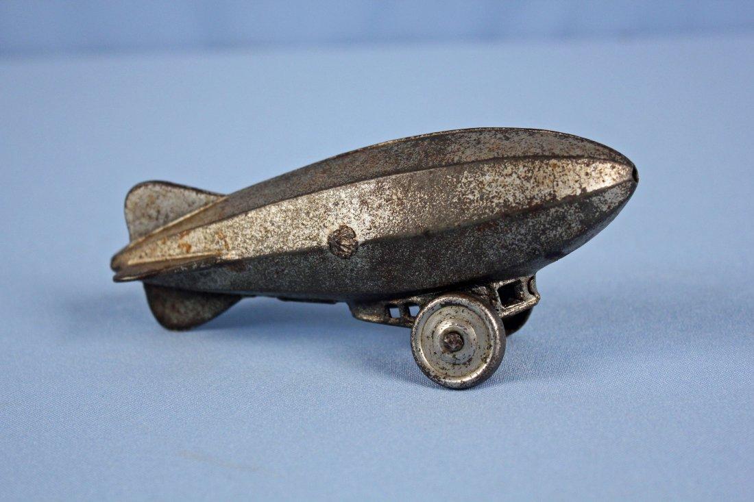 "Cast Iron Graf Zeppelin or Blimp  6"" Pull Toy - 2"