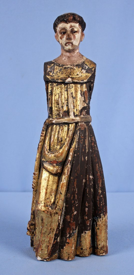18th/19th C. Giltwood Santos Figure of St. Anthony