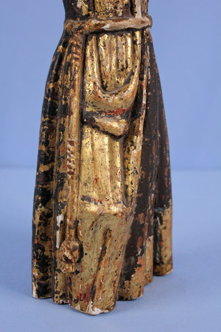 18th/19th C. Giltwood Santos Figure of St. Anthony - 3
