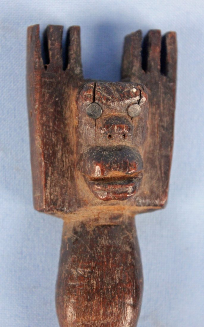 Two 20th C. Hand Carved Guatemalan Slingshots - 3