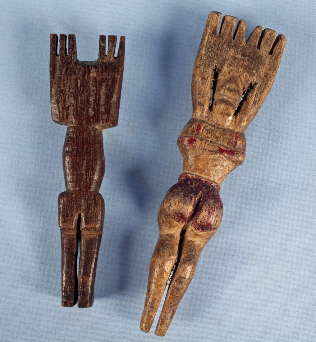 Two 20th C. Hand Carved Guatemalan Slingshots - 4