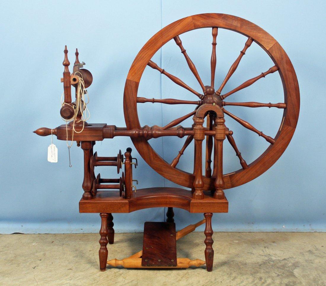 Norwegian Style Spinning Wheel by Michael Wilson