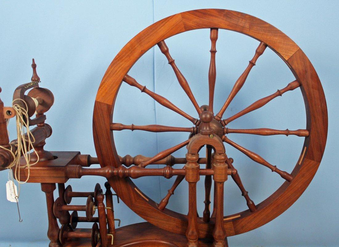 Norwegian Style Spinning Wheel by Michael Wilson - 3