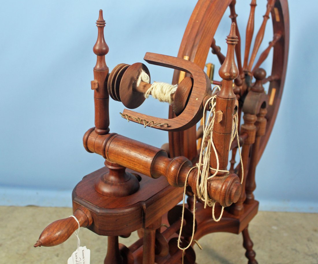 Norwegian Style Spinning Wheel by Michael Wilson - 4