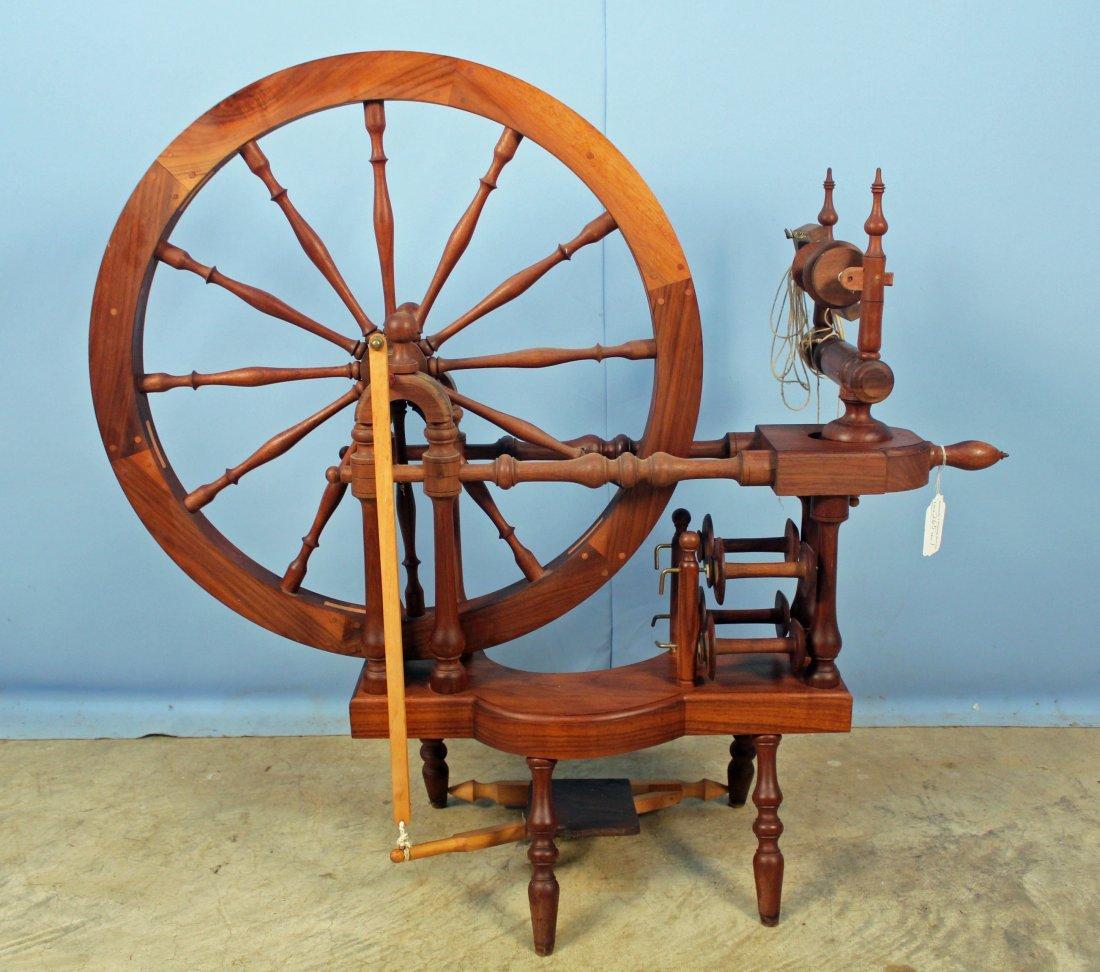 Norwegian Style Spinning Wheel by Michael Wilson - 5