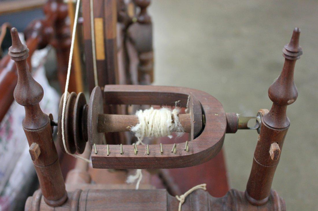 Norwegian Style Spinning Wheel by Michael Wilson - 9