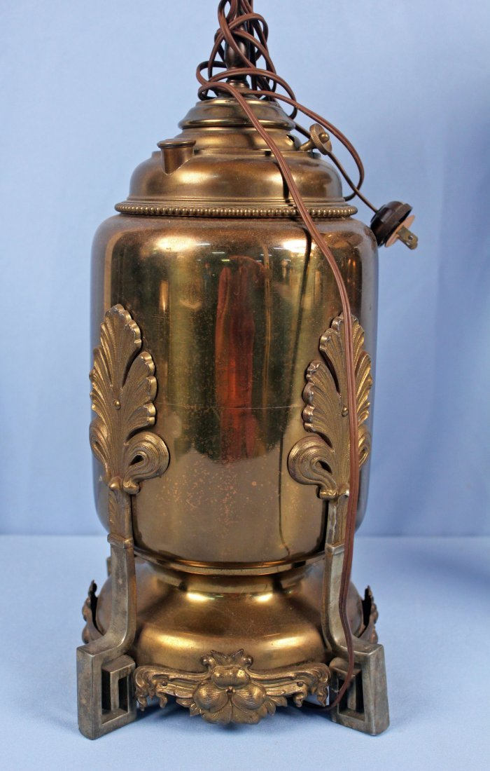 Two Brass Electric Lamps including Miller Co. - 2