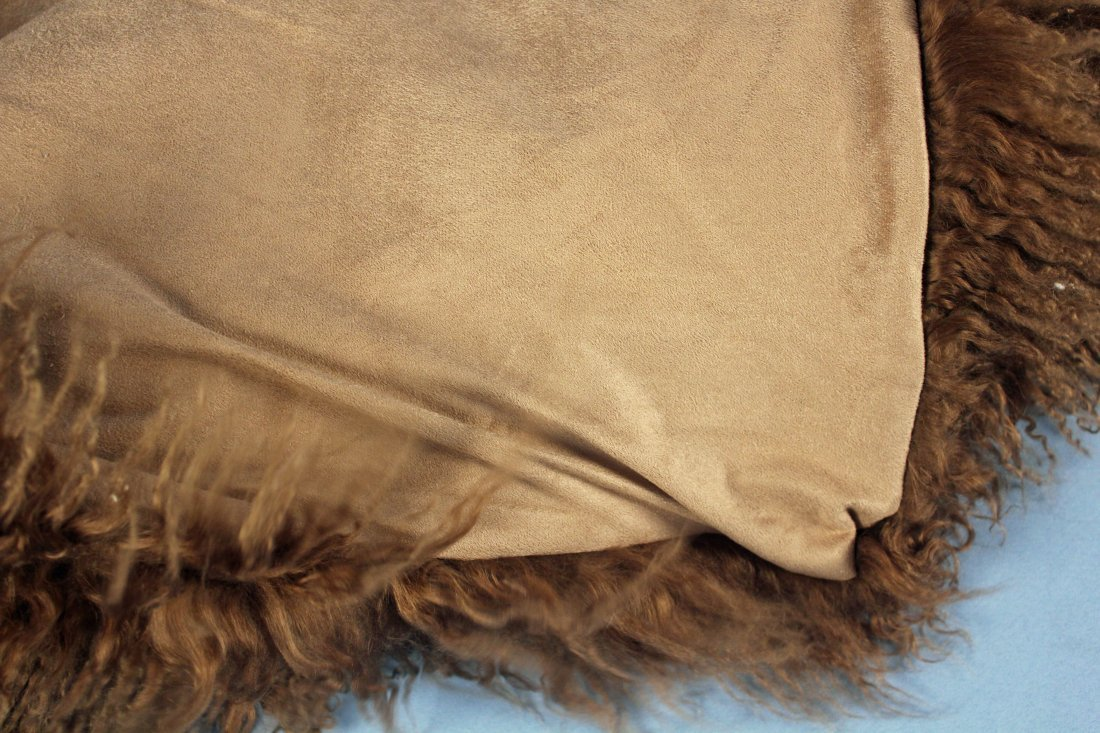 Marlo Lorenz Mongolian Thro 100% Wool Throw - 2