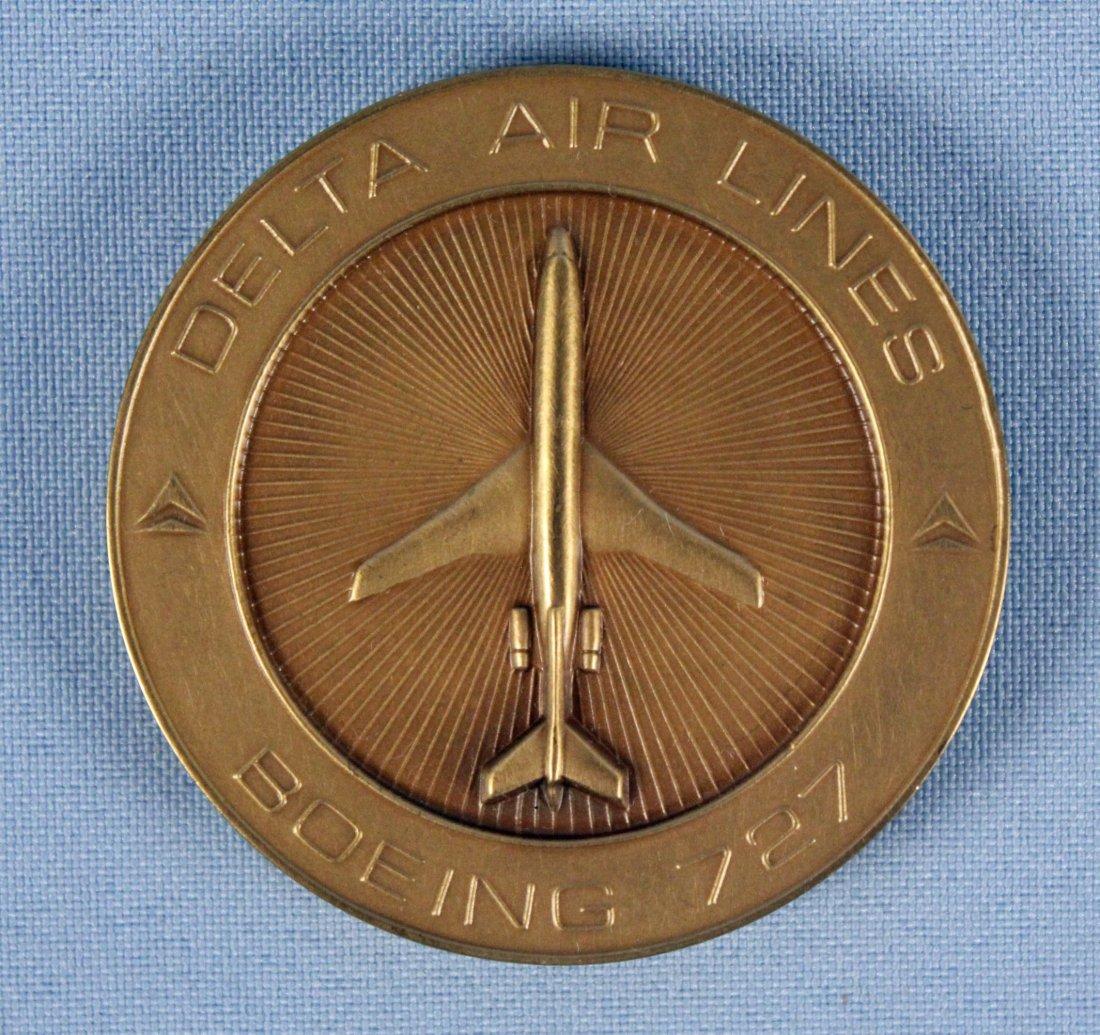 Delta Air Lines Boeing 727 Bronze Metal w/ Box - 3