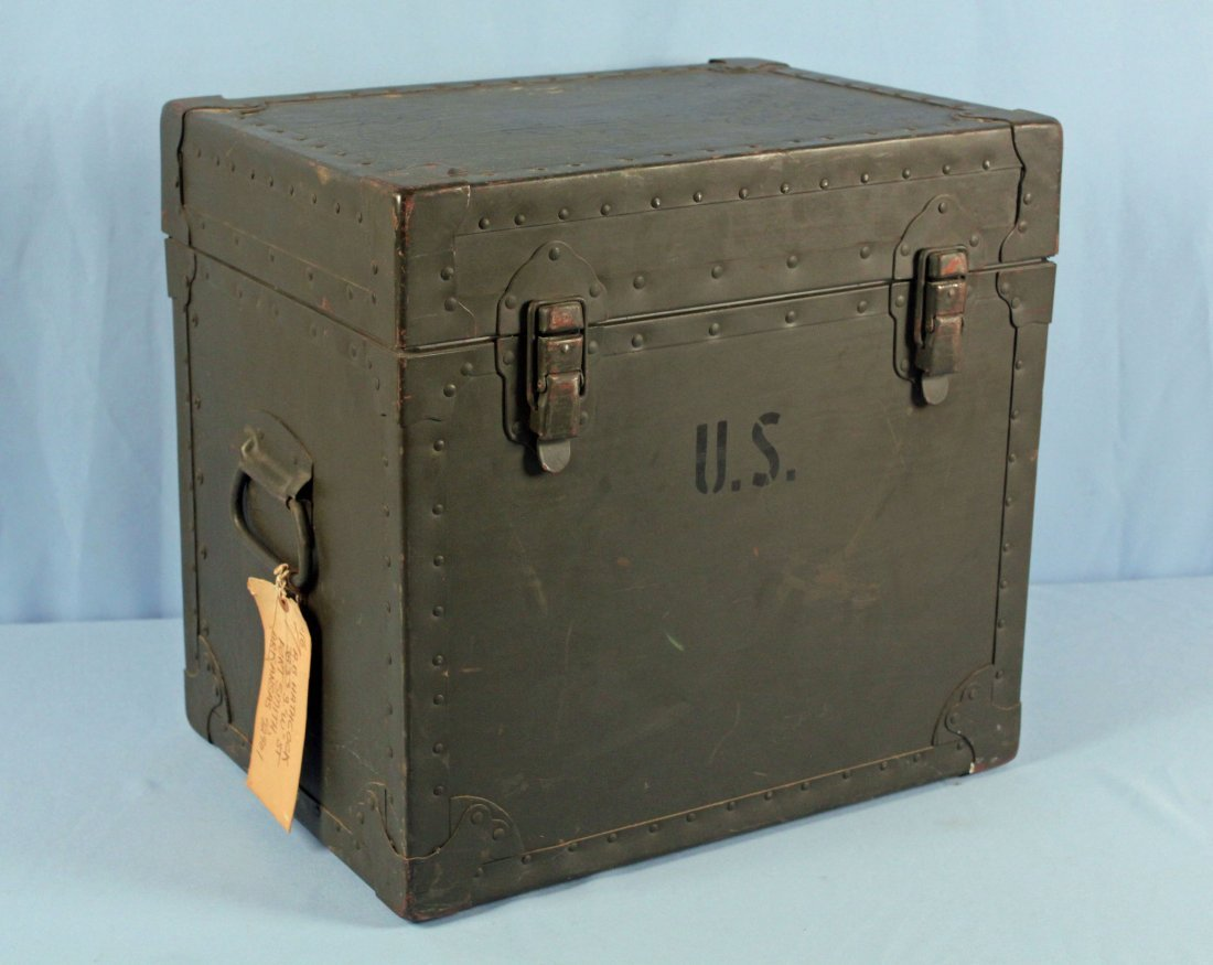 U.S. Army Field Office Typewriter Shipping Locker