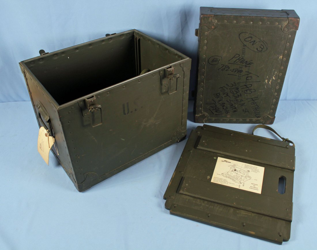 U.S. Army Field Office Typewriter Shipping Locker - 4