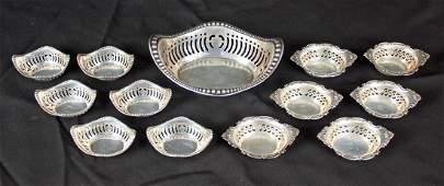 Webster Sterling Silver Nut Set  6 Gorham Dishes