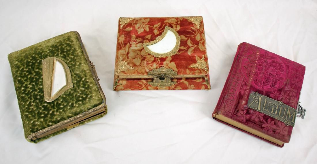 Three Antique Photograph Albums w/ Pictures