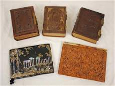 Group of Five Victorian Picture Albums