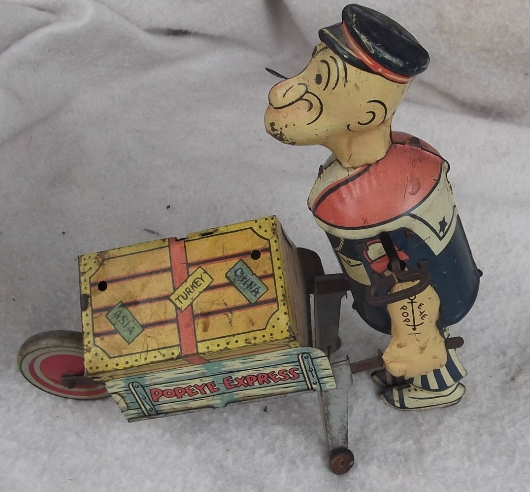 2: 1930's Popeye windup toy