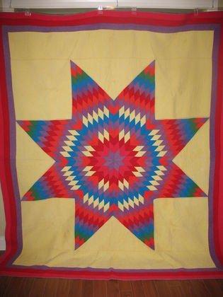 8: Handmade quilt, Lone Star pattern