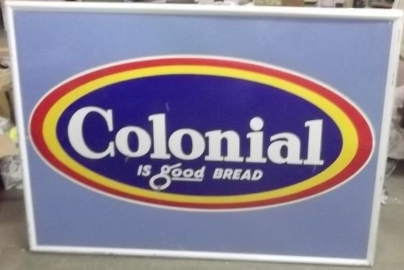 9: Colonial Bread sign