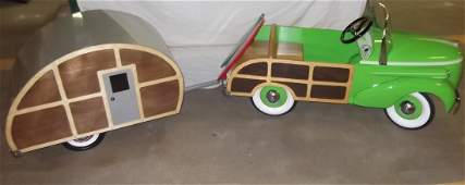 53: 1938 Gendron Woody Pedal Car