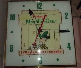 Mt. Dew Pam clock