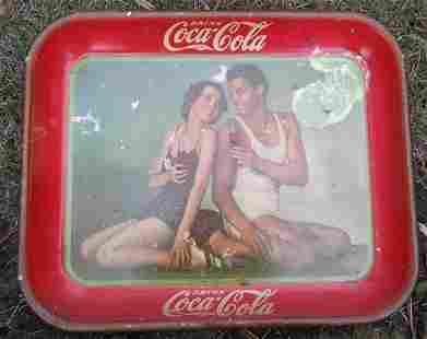 1934 Johnny Weissmuller Coke trey
