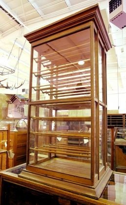 6: RARE 1900's Ribbon display case