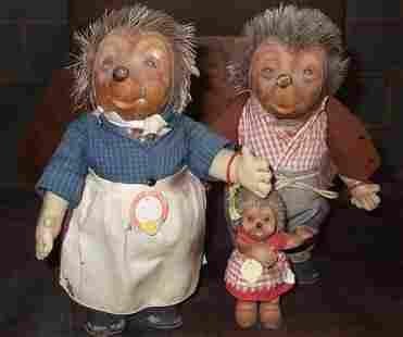 set of 3 early Steiff dolls